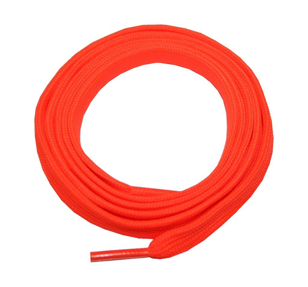 Schuhband Schnürsenkel 1 Paar Sport Trekking Arbeitsschuhe 120cm flach Orange (0099)