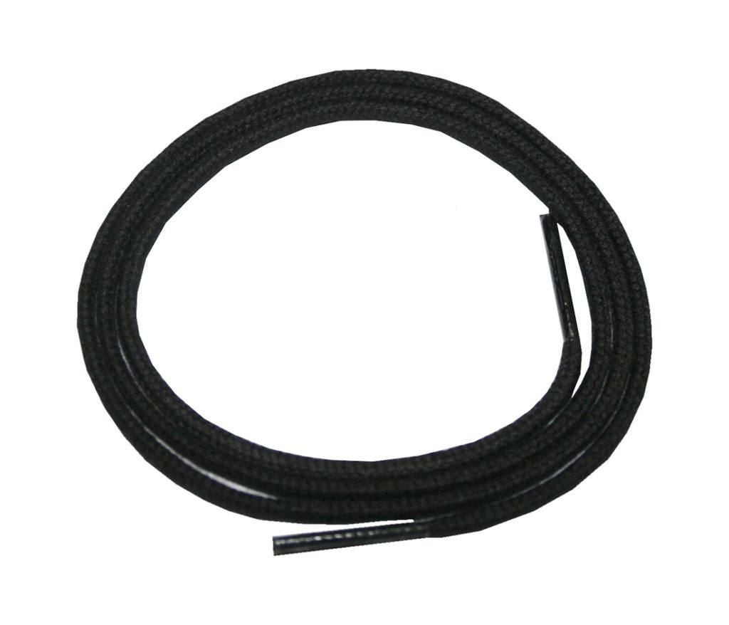 Schuhband Schnürsenkel 1 Paar Baumwolle 75cm rund schwarz (0103)