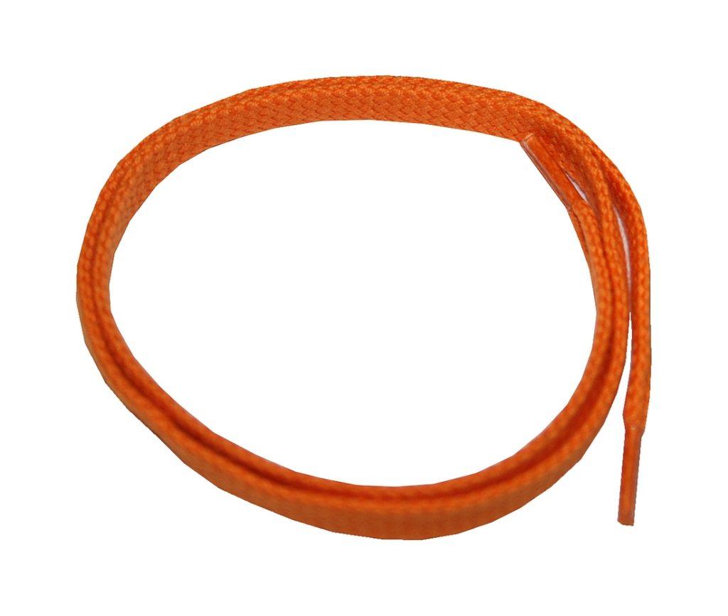 Schuhband Schnürsenkel 1 Paar Baumwolle 50cm flach orange (0106)
