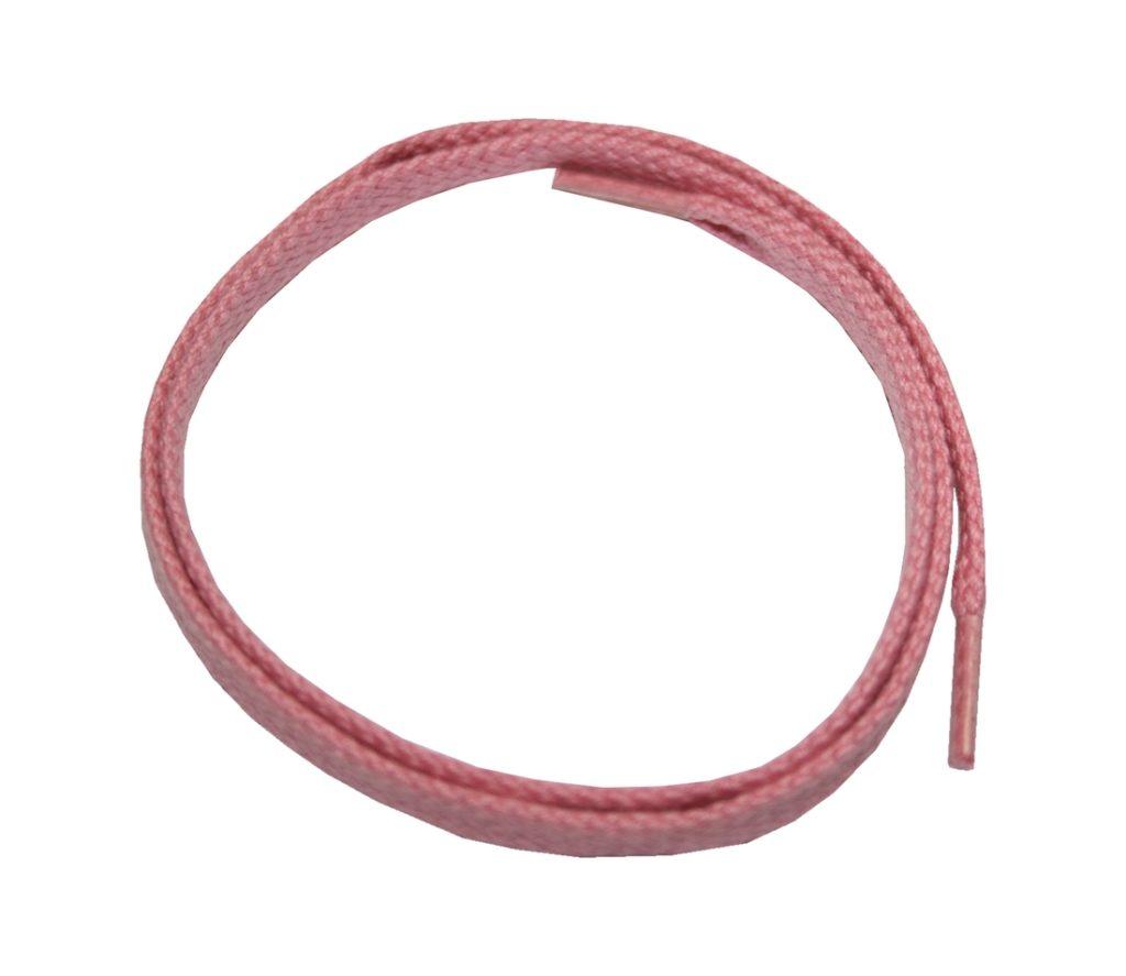 Schuhband Schnürsenkel 1 Paar Baumwolle 50cm flach rosa (0109)