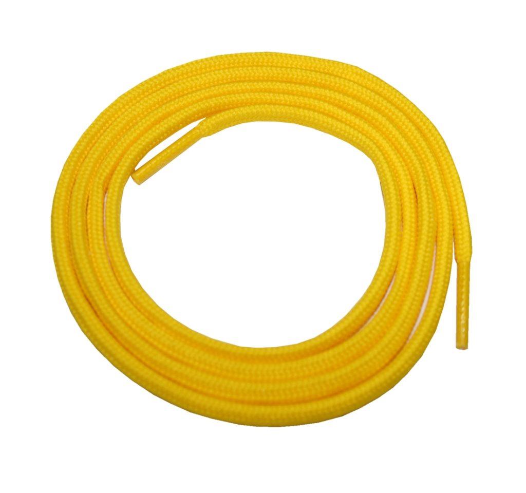 Schuhband Schnürsenkel 1 Paar Sport Trekking Arbeitsschuhe 130 cm rund gelb (0115)