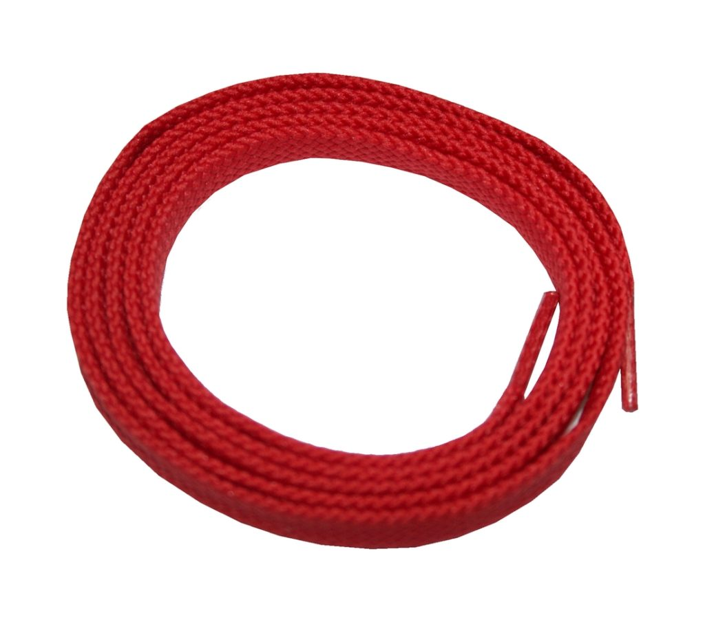 Schuhband Schnürsenkel 1 Paar Trekking Arbeitsschuhe 120cm flach rot (0126)