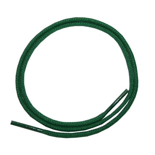 Schuhband Schnürsenkel 1 Paar Baumwolle 50cm rund grün (0128)