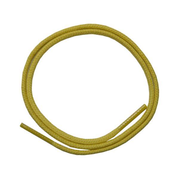 Schuhband Schnürsenkel 1 Paar Baumwolle 50cm rund gelb (0129)