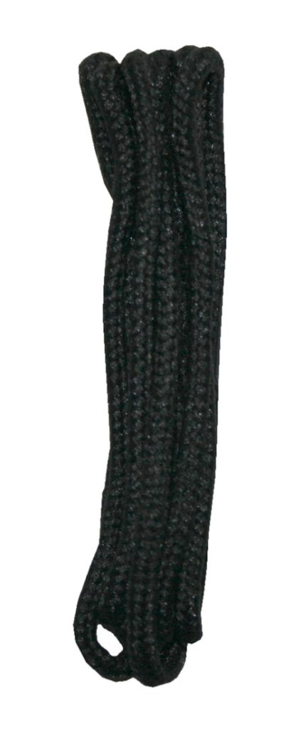 Schuhband Schnürsenkel 1 Paar Polyester 80cm rund schwarz (10009)