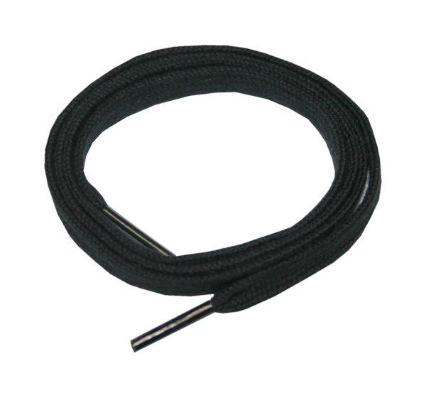 Schuhband Schnürsenkel Baumwolle 120cm 7mm flach schwarz (10020)