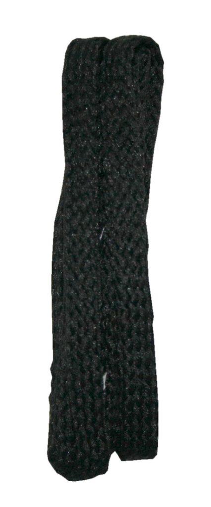 Schuhband Schnürsenkel 1 Paar Polyester 75cm 8mm flach schwarz (10028)