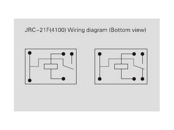 Relais JRC-21F4100 Printrelais 1 Wechsler 3V (0007)