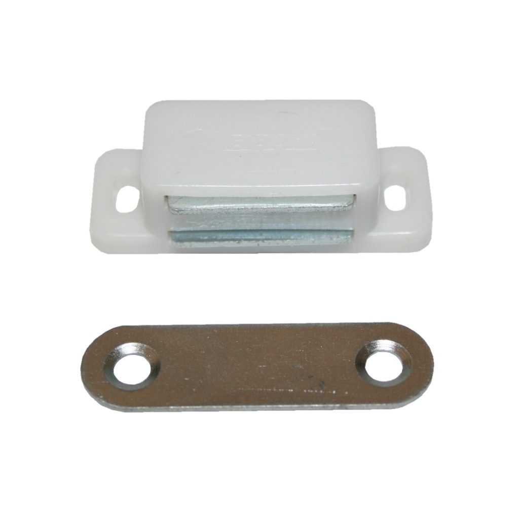 Türmagnet Möbelmagnet Magnetschnapper Magnet weiß (0228)