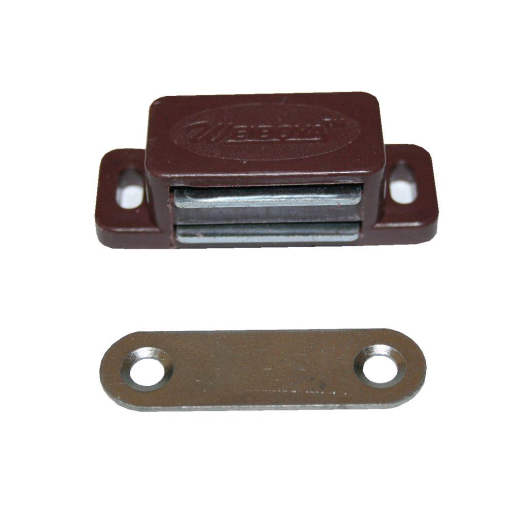 Türmagnet Möbelmagnet Magnetschnapper Magnet braun (0229)