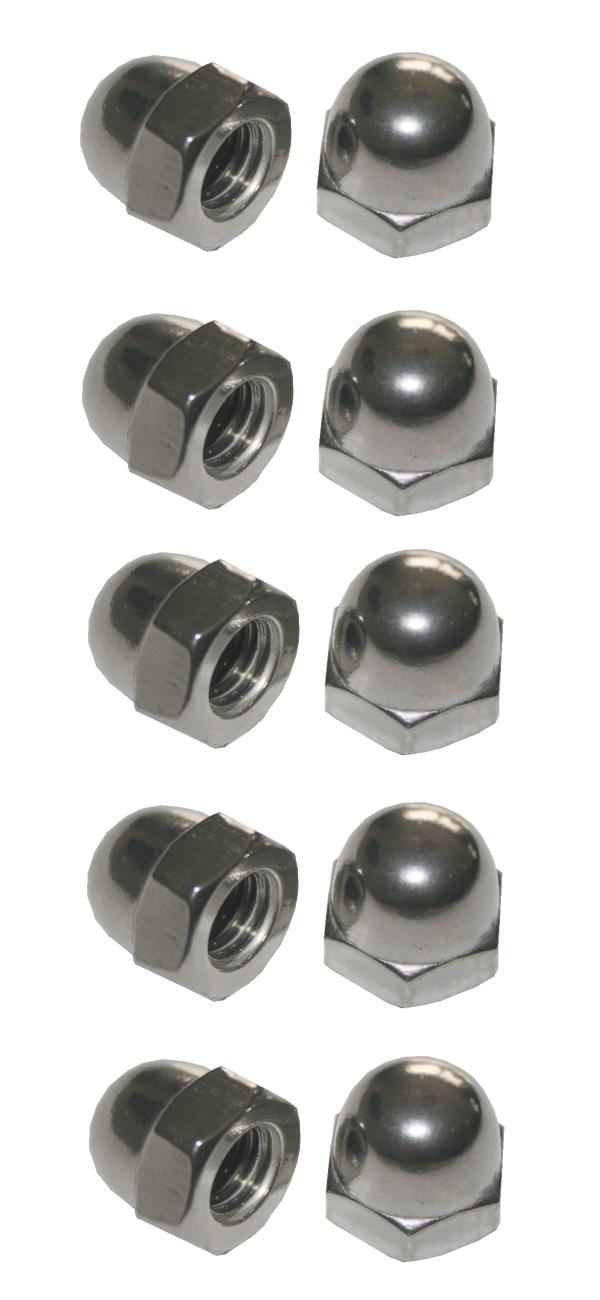Hutmuttern Hutmutter Sechskant verzinkt M6 10 Stück (0015)
