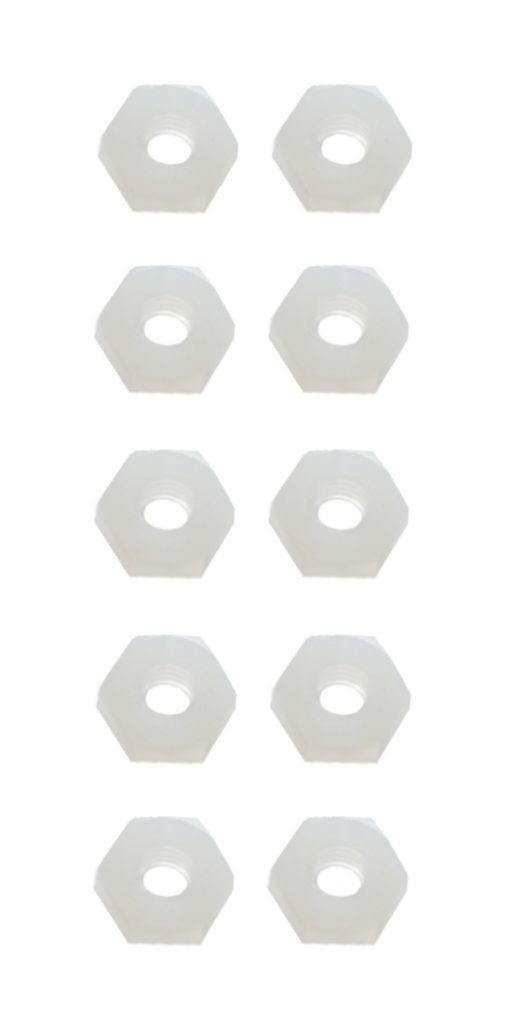 Sechskantmutter Mutter M3 Polyamid Kunststoff 10 Stück (0113)
