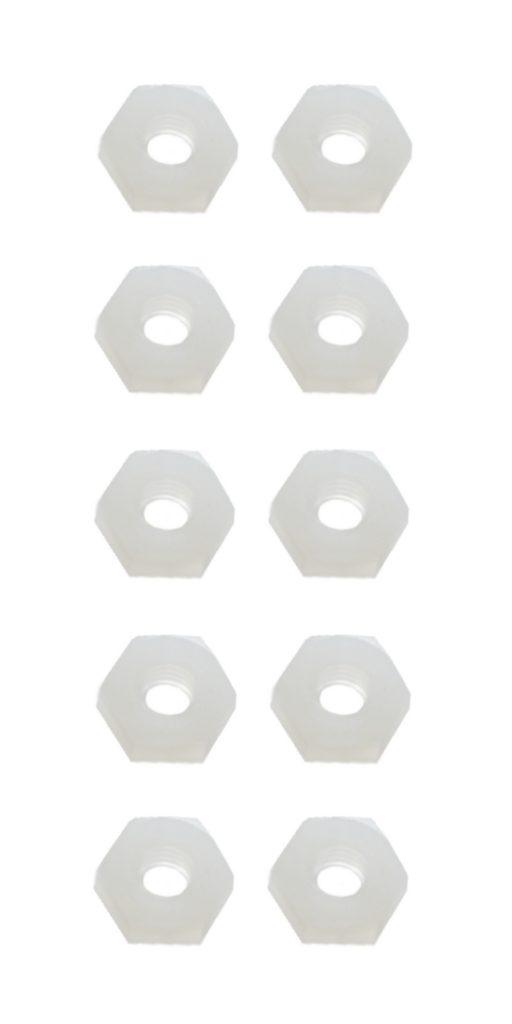 Sechskantmutter Mutter M6 Polyamid Kunststoff 10 Stück (0148)