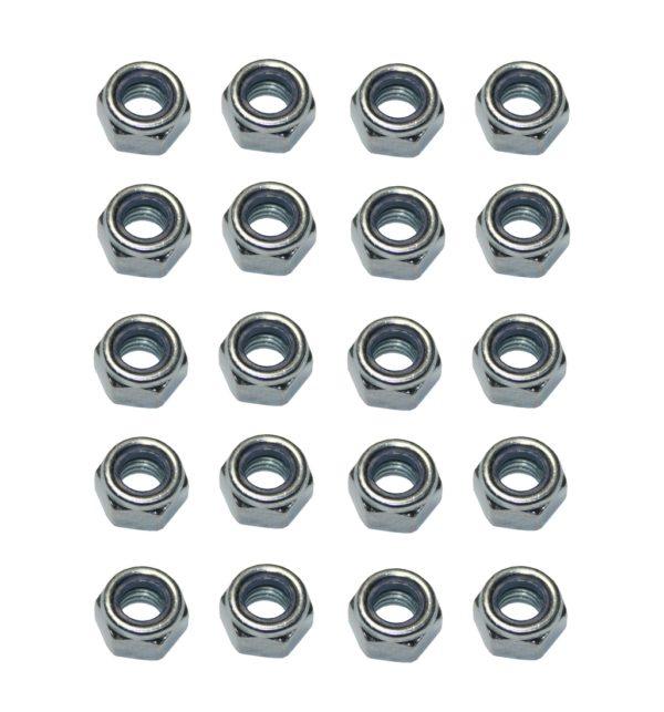 Sicherungsmutter M6 Stahl verzinkt DIN 985 20 Stück (0184)