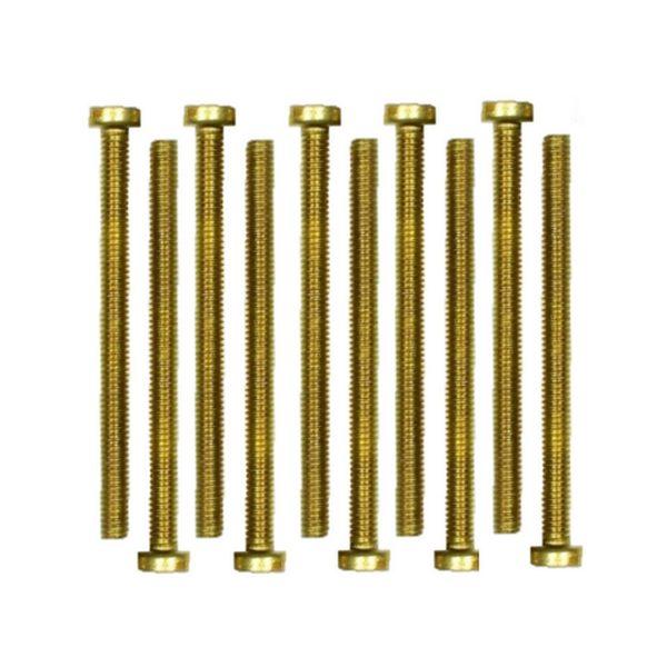 Zylinderschrauben Messing Gewindeschrauben DIN84 M4x10mm 10 Stück (0195)