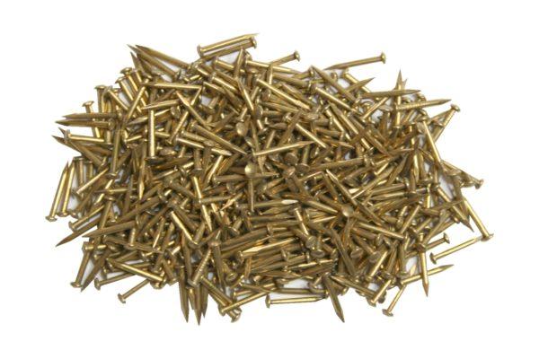 Messingnägel 12mm Rundkopf Nägel 56g. ca.400 Stück (0210)