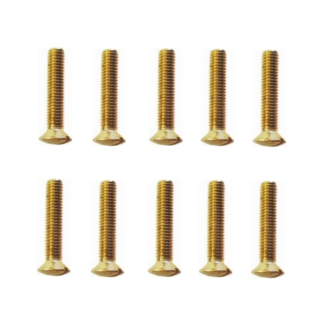 Linsensenkschrauben Messing Gewindeschrauben DIN964 M3x25mm 10 Stück (0212)