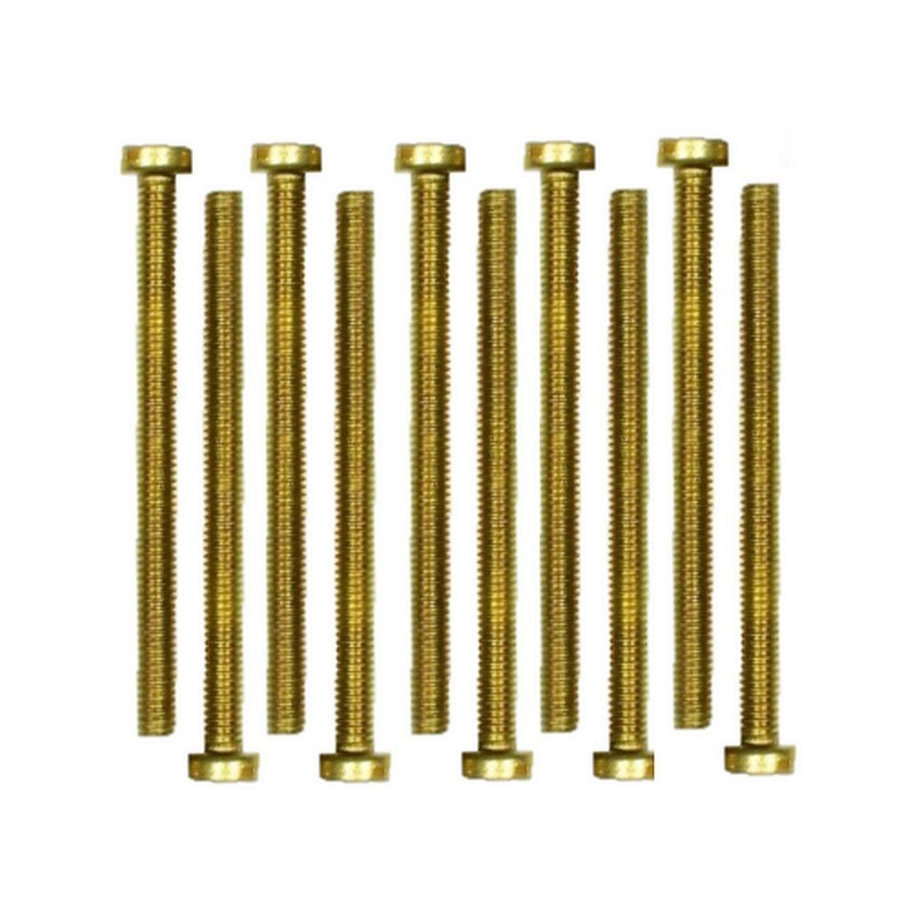 Zylinderschrauben Messing Gewindeschrauben DIN84 M4x6mm 10 Stück (0229)