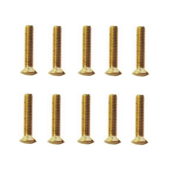 Linsensenkschrauben Messing Gewindeschrauben DIN964 M4x25mm 10 Stück (0304)