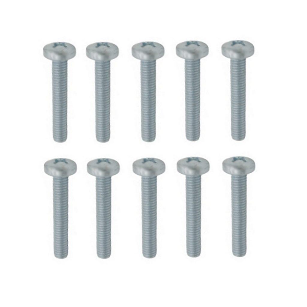 Linsenschrauben Gewindeschrauben verz. DIN7985 M6x10mm 10 Stück (0306)