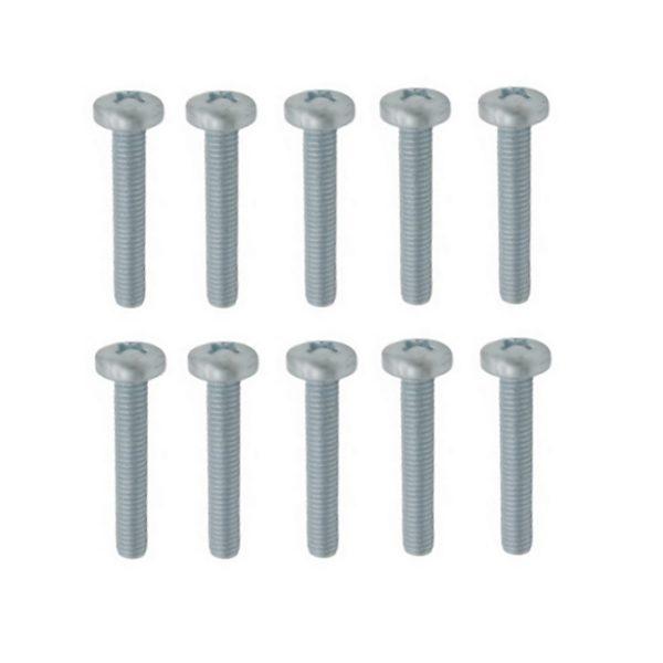 Linsenschrauben Gewindeschrauben verz. DIN7985 M6x20mm 10 Stück (0308)