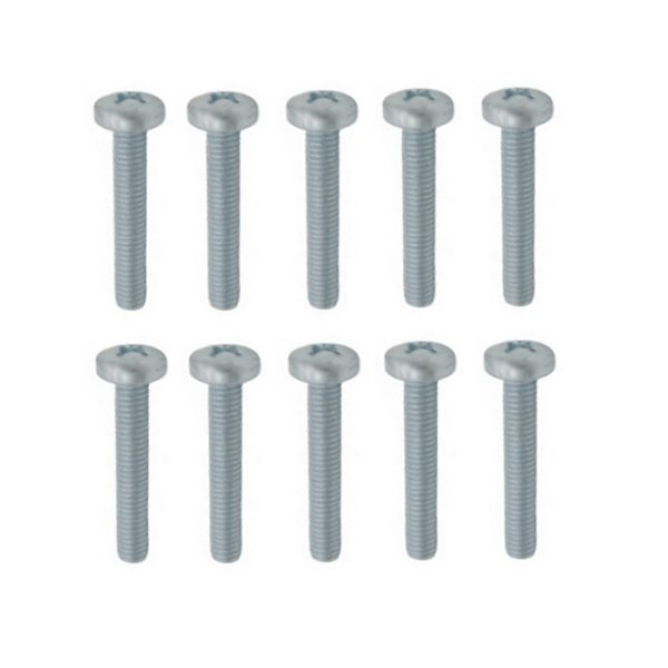 Linsenschrauben Gewindeschrauben verz. DIN7985 M6x35mm 10 Stück (0311)