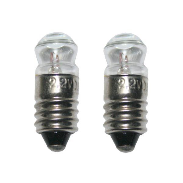 Glühlampe Glühbirne Breitlinse E10 2,2V 0,3A 2 Stück (8019)