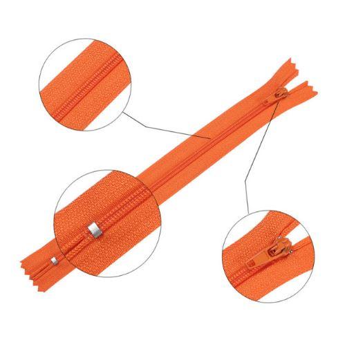 Reißverschluss 20 cm spiralformig 3 mm nicht trennbar orange (2010)