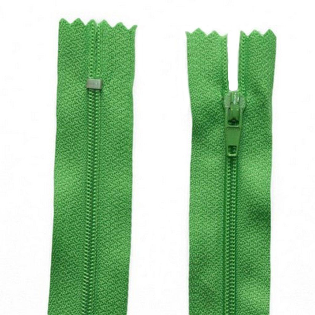 Reißverschluss 20 cm spiralformig 3 mm nicht trennbar grün (2020)