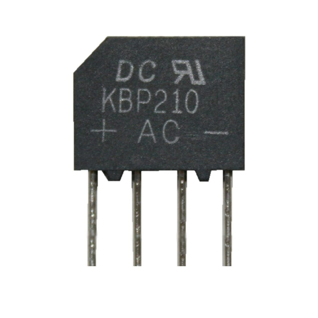 Brückengleichrichter Gleichrichter KBP210 1000V 2A (0019)