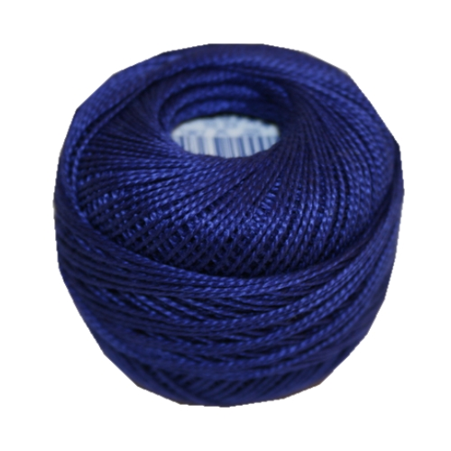 PERLOVKA Kreuzstichgarn Baumwolle Perlgarn 10g 85m blau (5082)