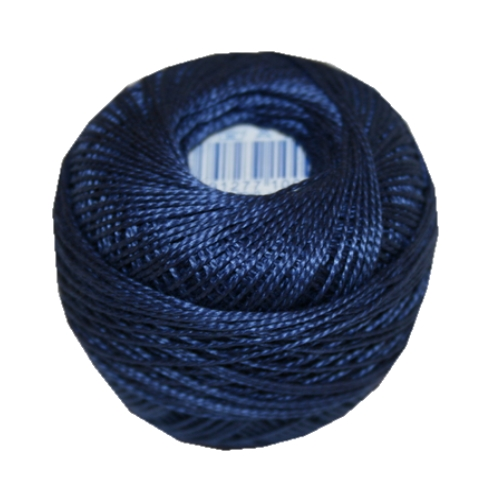 PERLOVKA Kreuzstichgarn Baumwolle Perlgarn 10g 85m blau (5882)