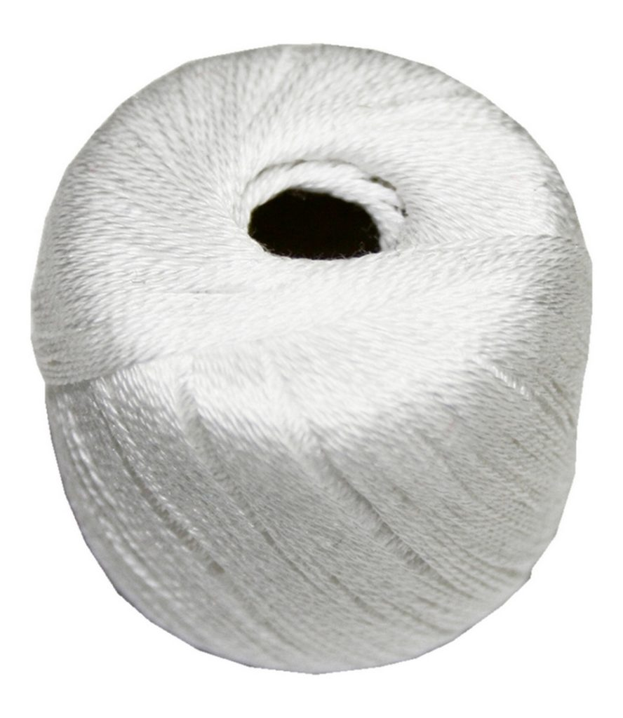 Stopftwist Stopfgarn Baumwolle 8-fach mercerisiert 20 m weiß (0851)