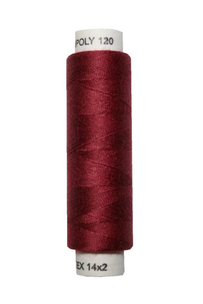 Nähmaschinen Nähgarn 100 m Polyester UNIPOLY 14x2 bordeaux rot (0347)