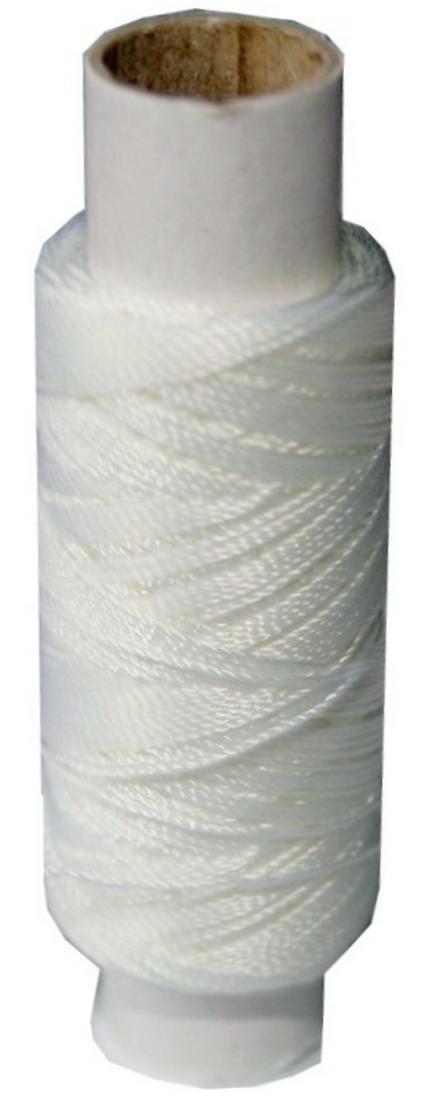 Sattlergarn Zwirn 14x2x3 Polyester 50 m weiß Ø 0,3mm (0001)
