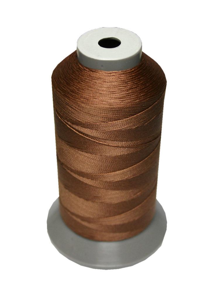 Sattlergarn Zwirn 14x2x3 Polyester 1000m braun Ø 0,3mm (5048)