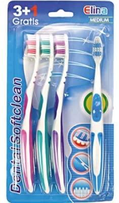 Zahnbürste Elina Softclean 3+1 Antirutschgriff