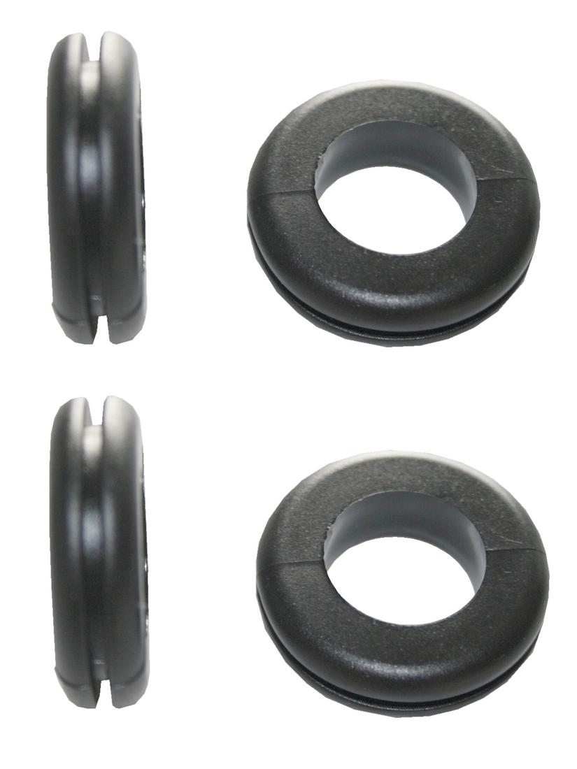 Durchgangstüllen Kabeldurchführung Kabeldurchlass 20mm schwarz 4 Stück (0300)