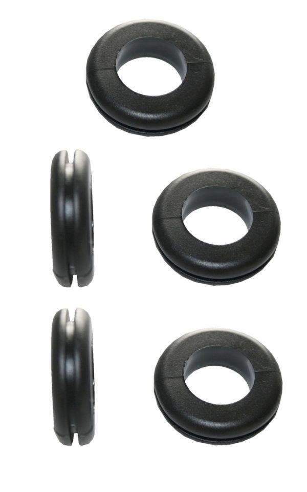 Durchgangstüllen Kabeldurchführung Kabeldurchlass 8mm schwarz 5 Stück (0302)