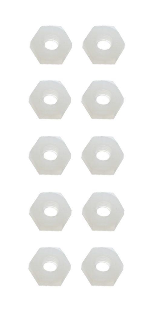Sechskantmutter Mutter M2 Polyamid Kunststoff 10 Stück (0057)