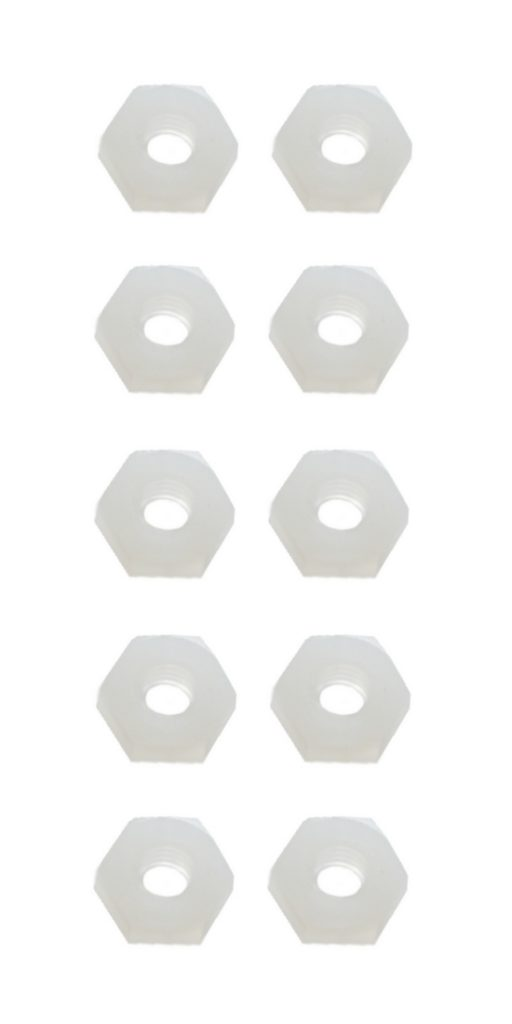 Sechskantmutter Mutter M2,5 Polyamid Kunststoff 10 Stück (0058)