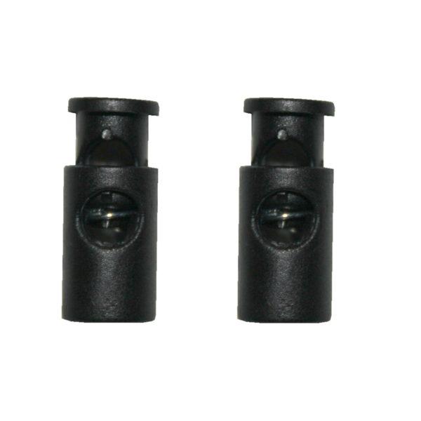 Kordelstopper Kordelklemme 1 Loch schwarz 2 Stück (0134)