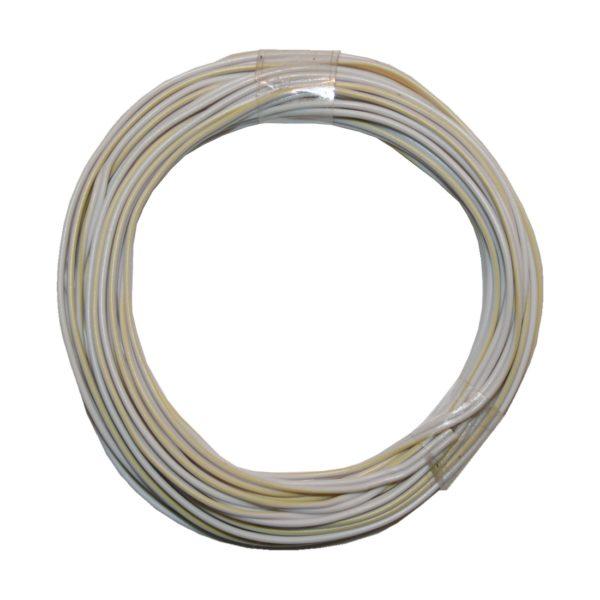 Kabelring Kabel 2*0,14mm 5m weiß gelb (0007)
