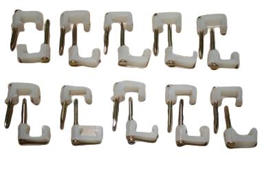 Nagelschelle Kabelschelle 8 mm weiß 20 Stück (3407)