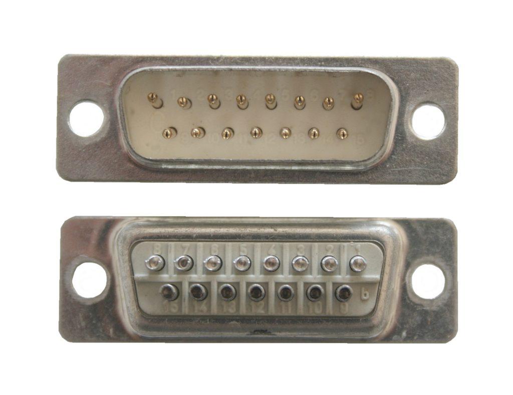 D-Sub Stecker 15 polig männlich DB15 Lötanschluss (0235)
