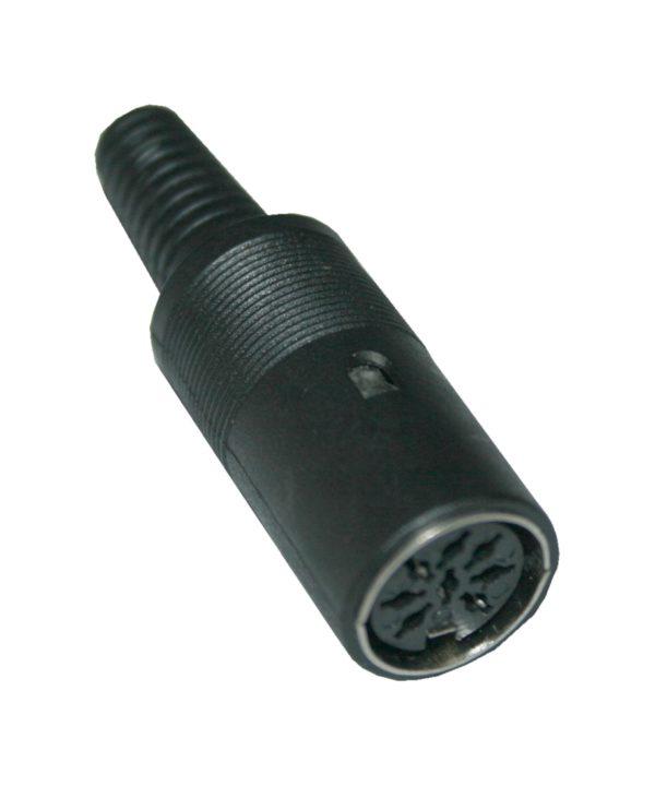 DIN Stecker Buchse 8-polig weiblich schwarz (0305)
