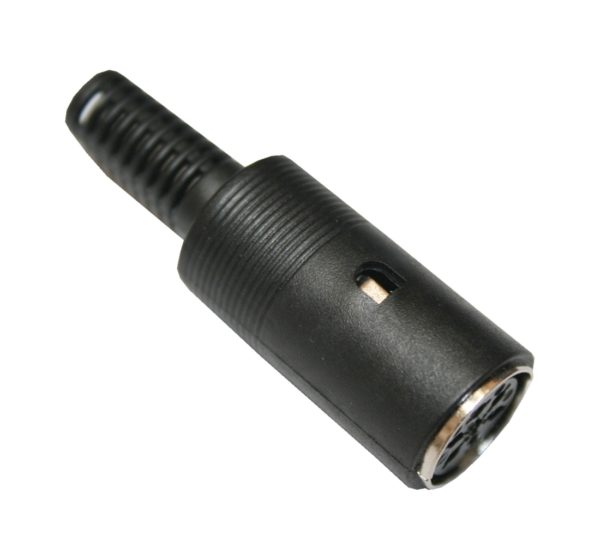 DIN Stecker Buchse 6-polig weiblich schwarz (0338)