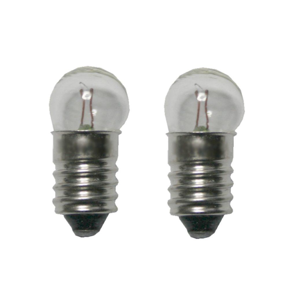 Glühlampe Glühbirne E10 12V/0,1A 2 Stück (8006)