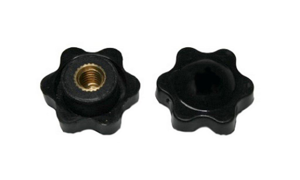 Drehknopf Geräteknopf M5 schwarz 1 Stück (0077)