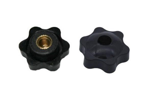 Drehknopf Geräteknopf M6 schwarz mit Loch 1 Stück (0079)